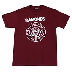 Ramones Rock Band Man's T-Shirts Burgundy (Large) - Brought to you by Avarsha.com