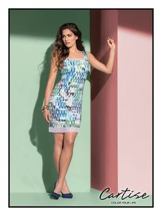 Print dress / 510073 #springfashion #summerfashion #musthave #Cartise #women #apparel #coloryourlife www.cartise.ca