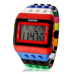 Unisex Rainbow Block Brick Style Digital Wrist Watch $9.56