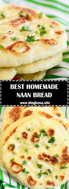 This homemade Naan Bread is soft, chewy, and simply delicious. Indian Food Recipes, Vegetarian Recipes, Cooking Recipes, Ethnic Recipes, Egyptian Recipes, Vegetarian Appetizers, Homemade Naan Bread, Recipes With Naan Bread, Naan Recipe