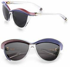 Christian Dior Oversized Cat's-Eye Sunglasses