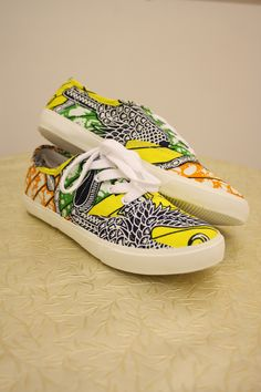 Ankara Shoes... Can't forget where your from
