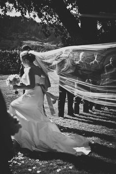 Beautiful Veil Shot from JenniferSkog.com via Style Me Pretty / Photography by jenniferskog.com