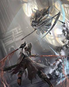 Bloodborne x Dark Souls III, Lady Maria and Sister Friede Dark Souls 3, Arte Dark Souls, Demon's Souls, Dark Fantasy Art, Dark Art, Ornstein Dark Souls, Lady Maria, Soul Saga, Bloodborne Art
