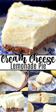 Cream Cheese Lemonade Pie is creamy, tart and full of lemony flavor. This is definitely a refreshing, super delicious, no bake, lemon dessert that can be made in 10 minutes. Source by desserts desserts easy desserts healthy desserts recipes Dessert Party, Oreo Dessert, Desserts Rafraîchissants, Tolle Desserts, Great Desserts, Quick Dessert, Dessert Healthy, Refreshing Desserts, Winter Desserts