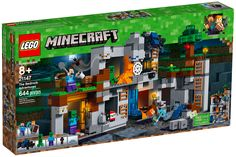 LEGO Minecraft 21147 The Bedrock Adventures. Descend the ladders to the depths of the Minecraft™ Overworld with this LEGO® Minecraft 21147 The Bedrock Adventures set. Lego Minecraft, Minecraft Shops, Minecraft Video Games, Minecraft Houses, Minecraft Bedroom, Minecraft Crafts, Minecraft Stuff, Minecraft Furniture, Minerals