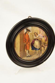 19th Century Framed Prattware Pot Lid by TheLotAntiquesandArt