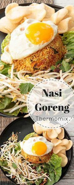 Balinese Nasi Goreng Recipe - Thermomix Style Nasi Goreng is everyone's favourite Balinese dish. Make this recipe quickly & easily in the Thermomix. The recipe can be adapted to use chicken or tofu. Thermomix Recipes Healthy, Vegetarian Recipes, Cooking Recipes, Thermomix Fried Rice, Rice Recipes, Yummy Recipes, Balinese Recipe, Malaysian Food, Savoury Dishes