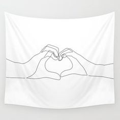 Design your everyday with tapestries you'll love to hang on the wall or lay on the ground. Explore trending designs from independent artists. Room Tapestry, Wall Tapestries, Diy Room Decor, Bedroom Decor, Bedroom Ideas, Heart Wall, Hand Heart, Blush Beauty, Outline Art