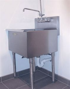 A Line By Advance Tabco X Single Freestanding Utility Sink