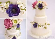 Image result for wedding cake with spring flowers