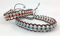 Galaxy Bracelet Tutorial | Loose Ends 3.5 Steps:  5) Continue weaving the leather into the chain (repeating steps 2 and 3) until you have woven through the entire length of rolo chain.  If there is any additional rhinestone chain at the end, trim it with a pair of flush cutters.
