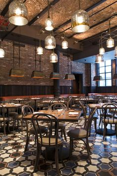 Such cool lighting at Gato Restaurant in NYC    City Lighting Products   www.facebook.com/CityLightingProducts