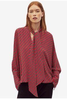 Wanita > Pakaian > Atasan > Blouse > Striped Bow Blouse > Mango
