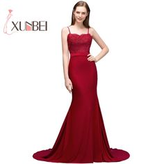 Robe de soiree Sexy Back Burgundy Lace Evening Dresses Long 2019 Spaghetti Stripes Prom Dresses Party Gown. If You Want to get more ideas just click picture. Long Sleeve Evening Dresses, Dress Long, Evening Gowns, Dress Up, Party Dresses For Women, Prom Party Dresses, Party Gowns, Formal Dresses, Robes De Soiree