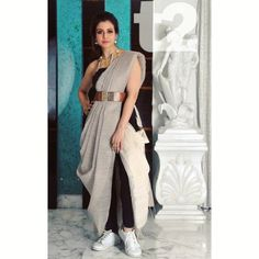 12 Innovative and Stylish Saree Draping Styles By Dolly Jain - Tikli Indian Fashion Dresses, Dress Indian Style, Indian Designer Outfits, Indian Fashion Modern, Indian Fashion Trends, Saree Fashion, Indian Outfits, Fashion Outfits, Trendy Sarees