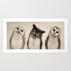 The+Owl's+3+Art+Print+by+Isaiah+K.+Stephens+-+$15.00