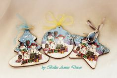 Christmas decoration wooden Christmas by BellesAmiesDecor on Etsy