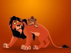 kovu e scar Lion King Kovu, Simba And Nala, The Lion King 1994, Lion King Fan Art, Disney Cats, Disney Cartoons, Anime Lion, Lion King Pictures, Disney And Dreamworks