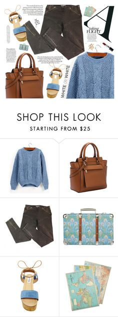"""""""Baby blue"""" by mihreta-m ❤ liked on Polyvore featuring McQ by Alexander McQueen, Liberty, Steve Madden, Cavallini & Co. and Bobbi Brown Cosmetics"""