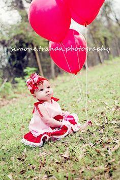 child Valentine photography  baby girl photo ideas