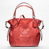 AUDREY PATENT LEATHER MEDIUM CINCHED TOTE in Navy