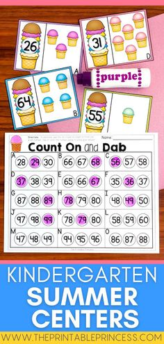 This Kindergarten literacy and math centers pack is perfect for end of the year and summer-time! Themes included in this packet are: ice cream, bubbles, picnics, grilling and hot dogs, camping, beach, and water fun.