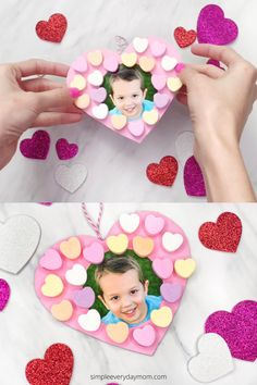 This candy Valentine craft is a fun and easy activity for February! Make it with toddlers, preschool, and kindergarten kids. Valentine's Day Crafts For Kids, Valentine Crafts For Kids, Valentine Wreath, Projects For Kids, Valentines, School Themes, Wreath Crafts, Photo Craft, Preschool Activities