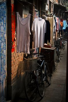 Hutongs r a type of narrow streets or alleys in Beijing_ China