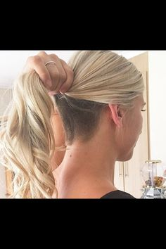 references Long Blond Ponytail, Undercut Why Should You Get Married In Las Vegas? Undercut Ponytail, Nape Undercut, Shaved Undercut, Undercut Hairstyles Women, Undercut Long Hair, Undercut Women, Ponytail Hairstyles, Blonde Ponytail, Undercut Pixie