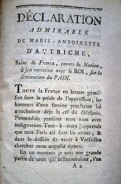 Pamphlet révolutionnaire. Le début de l'année 1789 voit éclater en France…