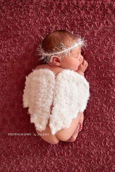 Gehäkelter Engel Flügel Heiligenschein von BitofWhimsyCrochet