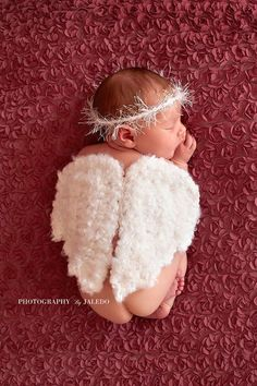 Hey, I found this really awesome Etsy listing at https://www.etsy.com/listing/153479441/crochet-angel-wings-halonewborn