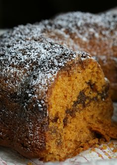 Pumpkin Butterscotch Coffee Cake...with a streusel topping, is so scrumptious!