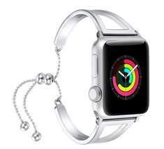 fastgo Bracelet Compatible for Apple Watch Band 2018 Dressy Fancy Jewelry Bangle Cuff for Iwatch Bands Series 4 3 2 1 Women Girls Adjustable Stainless Steel Pendant Tassel Apple Watch Cuff, Apple Watch Bracelets, Best Apple Watch, Apple Watch Bands 42mm, Apple Watch Series, Bracelet Watch, Apple Watch Accessories, 1 Rose, Rose Gold