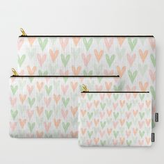Ice-cream hearties ❤ Carry-All Pouch by Itsme.emi | Society6