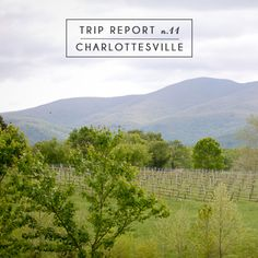 Trip Report n.11: Charlottesville