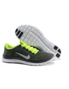 first rate 47978 fee8f Mens Nike Free Charcoal Yellow Silver Shoes For Wholesale