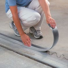 Garage Door Threshold - seals out rain, rodents, leaves.  SO need this. #garageremodeling