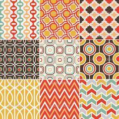 Illustration of seamless retro vintage pattern vector art, clipart and stock vectors. Geometric Patterns, Geometric Lines, Line Patterns, Motif Vintage, Vintage Patterns, Retro Vintage, Vintage Logos, Retro Logos, Vintage Typography