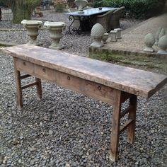 Stoere oude houten sidetable met 4 lades werkbank grof stoer