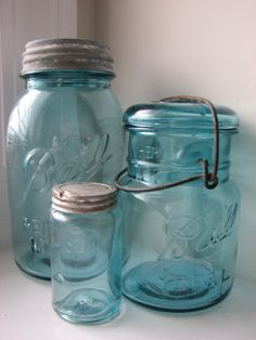 All Shapes & Sizes...I love my jars like these..my dad gave me mine from his basement....he got them from the elderly ladies he used to work for...I use them for everything, and treasure them, each and every one.