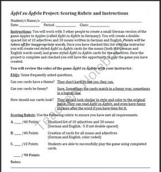 German teacher's idea to have students help create a version of Apple to Apples for the foreign language classroom. So smart to make the students do the work!