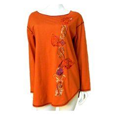 #Comfort+Style #CaroleLittleSport #Cotton #Top Embroidery #Tunic Lg Slv #Shirt #1X Denver Baby Boomer Halloween #eBay #sale #fashion #womenover50 #womenover40 #designer #clothes #deal #women