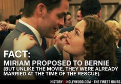 Chris Pine and Holliday Grainger as Bernie and Miriam in The Finest Hours Coast Guard movie. Read 'The Finest Hours: History vs. Hollywood' at: http://www.historyvshollywood.com/reelfaces/finest-hours/