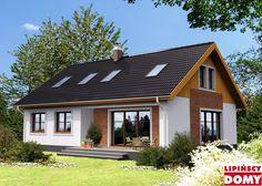 Projekt domu: Salida (LMP260) - Widok od ogrodu Home Fashion, Planer, Tiny House, Gazebo, House Plans, Sweet Home, Outdoor Structures, Exterior, House Design