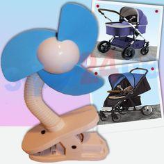 3 V Kinderwagen Buggy Sportwagen Ventilator mit Schaumlamellen blau | Batterie