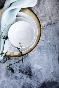 Broste Copenhagen tableware is a modern alternative to plain white. Styling by Marie Graunbol