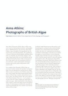 Anna Atkins: Photographs of British Algae Atkins, Detroit, Photographs, Anna, British, Photos