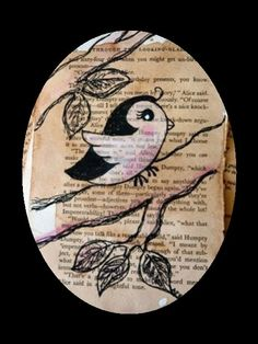 important  - - vintage pages, bird